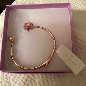 New Kate Spade Pave Pig and Pearl Cuff.